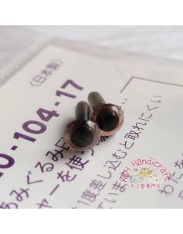 Hamanaka H220-104-17 Clear Brown Crystal Eyes (4.5mm)
