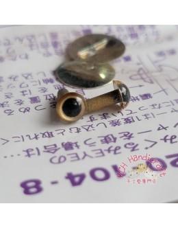 Hamanaka H220-104-8 Gold Crystal Eyes (4.5mm)