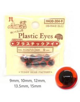 Hamanaka H430-304 Clear Amber Plastic Crystal Eyes
