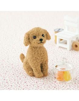 [H441-421] Hamanaka Felt Wool kit - Toy poodle