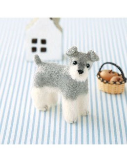 [H441-423] Hamanaka Felt Wool kit - Miniature Schnauzer