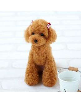 [H441-441] Hamanaka Real Felt Wool Mascot Dog Toy Poodle Kit