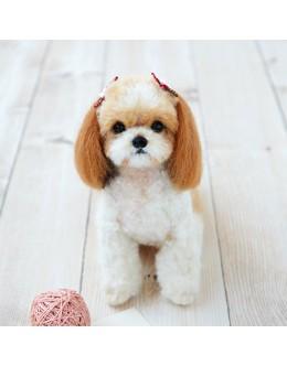 [H441-442] Hamanaka Real Felt Wool Mascot Dog Shih Tzu Kit