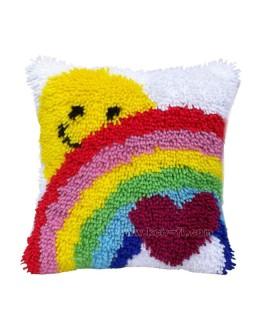 Custom Latch Hook Cushion