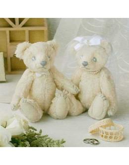 Hamanaka H431-113 Organic Cotton Wedding Bear Sewing Kit