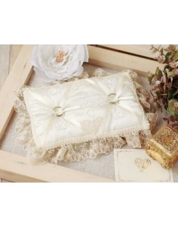 Hamanaka H431-143 Lace Ring Pillow Sewing Kit