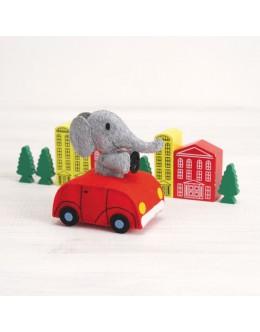 Sun Felt GPA-2 Groompa's Kindergarten Car Rattle Felt Craft kit(with bells)