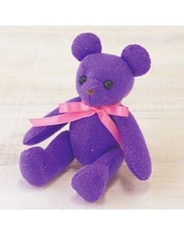 Sun Felt LB-2 Purple Lame Bear Felt Craft kit