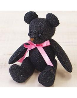 Sun Felt LB-6 Black Lame Bear Felt Craft kit