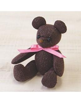 Sun Felt LB-9 Chocolate Lame Bear Felt Craft kit