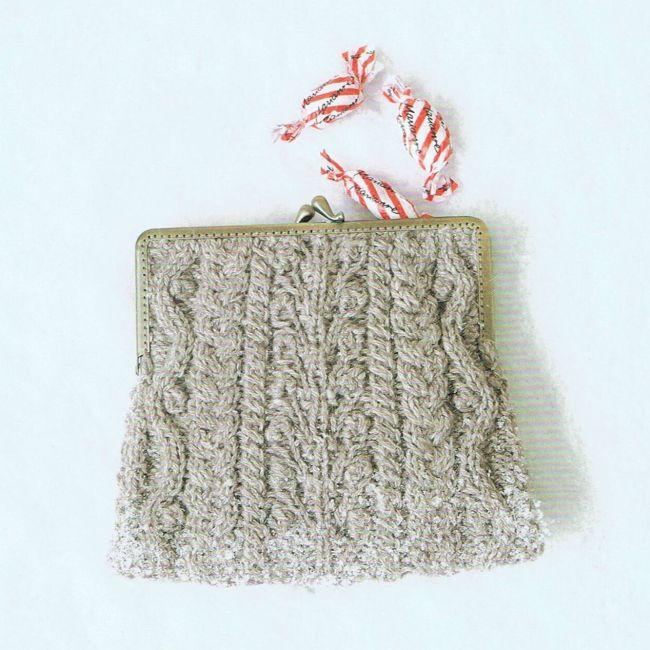 [p01] 口金包编织材料包